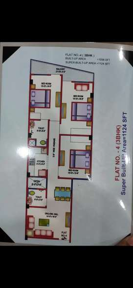 130 Gazz/1124 sq. ft. 3BHK FLAT for RENT in Iftikharabad