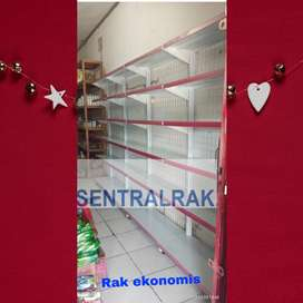 Rak gondola satu sisi dinding termurah supermarket minimarket swalayan