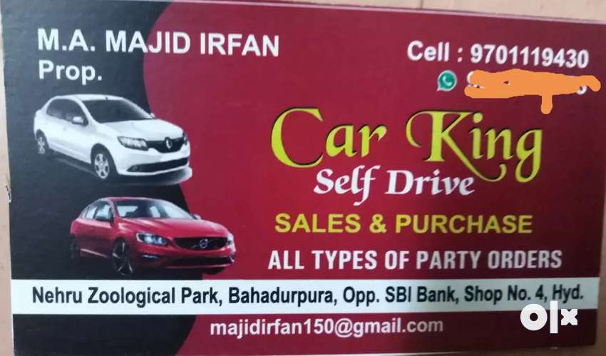Hi friends self drive car  5 seater and 7 seater also available 24*7 0
