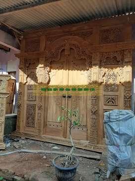 firda kusen pintu gebyok gapuro jendela rumah masjid musholla jati