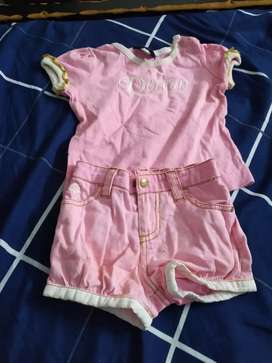 As good as new tee and hotpants for 1 year old