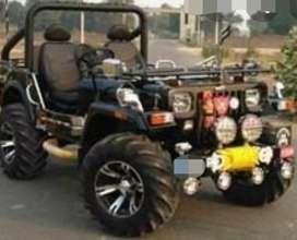 Black mahindra modified jeep
