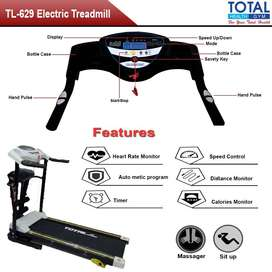 Alat Fitness Treadmill Elektrik TL-629 Total Fitnes Motor 1.5hp