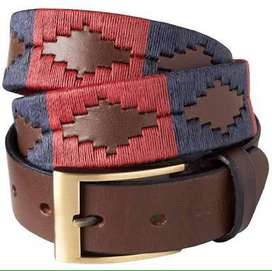 limited edition leather belt hand embroiderd