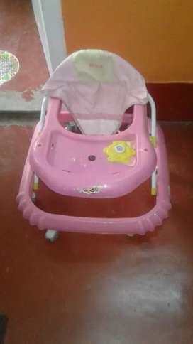 Baby walker and potty seat