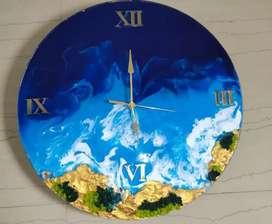 Rezin art clock