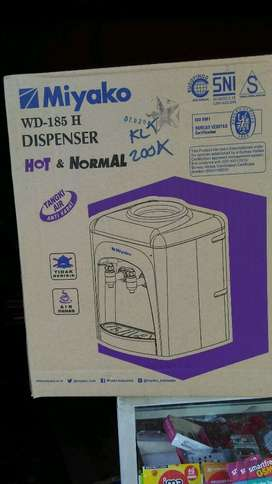 COD dispenser hot normal free ongkir  garansi miyako wd 185
