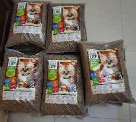 Litter Kayu, Wood Litter, Pasir Kayu kucing Easy Lite