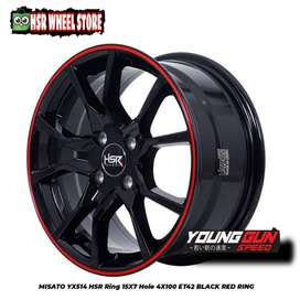 Velg ring 15 HSR Wheel velg buat Brio Agya Sigra Mirage Vios dll