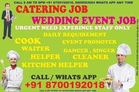 Hiring Cook helper waiter For Catering Restaurant Hotel Call Now
