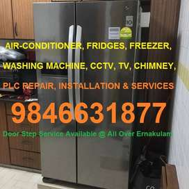 AIR-CONDITIONER,FRIDGES,AC,WASHING MACHINE,CCTV,TV,CHIMNEY INSTALLATIO