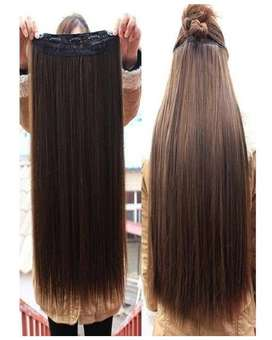 Hair Extension Natural Brown 32 Inch - Curly and Straight