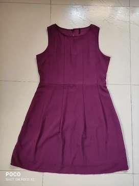Benetton Wine gorgette Dress ₹400