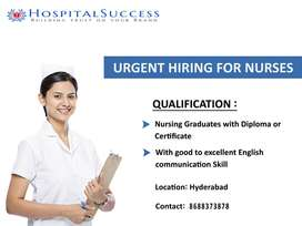 Nurses with GNM or B.Sc Nursing Required