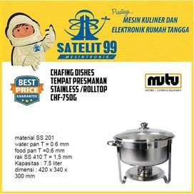 CHAFING DISHES TEMPAT PRESMANAN STAINLESS /ROLLTOP CHF-750G