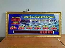 Sedia Bermacam Jam Masjid Digital Mewah Kirim Masjid Pati