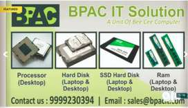 Desktop/Laptop Accessories (Ram, Hard Disk, SSD Hard Disk, Processor)