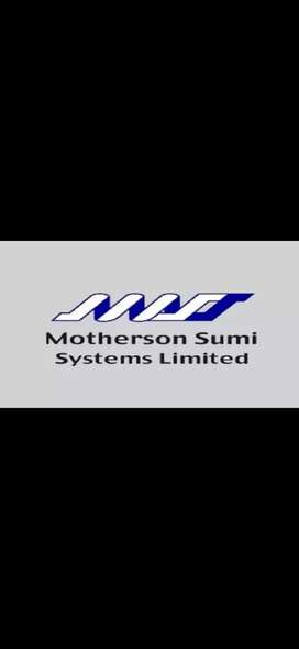 Need for fresher candidates in Motherson company
