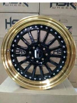 kredit velg NAMLEA JD216 HSR Ring 15 pcd 8X100-114,3 warna BK/GOLD