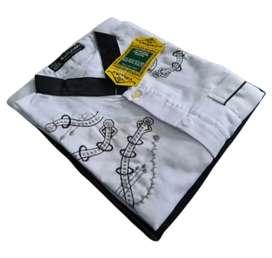 Setelan Baju koko Putih anak lengan panjang murah dan berkualitas