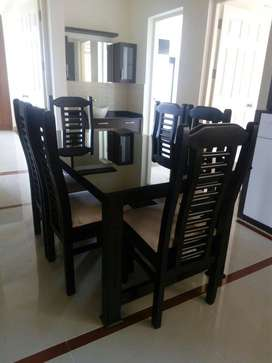 NEW 6 SEATER WOODEN DINING TABLE SETS. FACTORY DIRECT SALE. CALL.