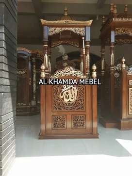 Ready Mimbar Masjid Material Kayu Jati Berkualitas #684