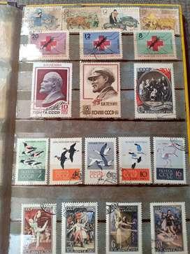 Koleksi Perangko Seluruh Dunia 1945 - 1970 + Uang Lama dalam 1 Album