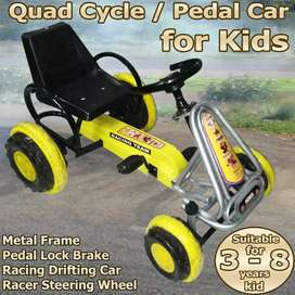Pedal Car Go-kart Quad Cycle not Tricycle