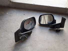 Retractable mirrors for japanese vehicles