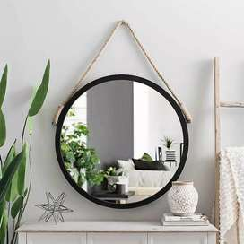 Home & Garden Rope Round Hanging Mirror
