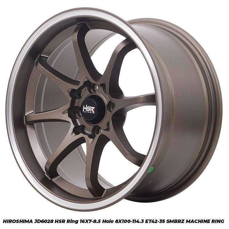 Velg Mobil Mazda Lantis dll HSR R16X7-85 H8X100-114,3 ET42-35 SMBRZ MR 0