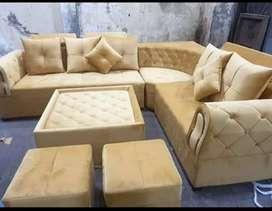 Yellow L shape sofa
