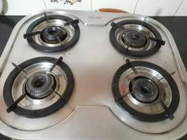 4 Steel Gas stove