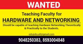 Wanted Hardware and Networking Faculty