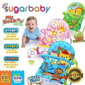 Bouncer bayi sugar baby my rocker stage 3 pliko bouncer / kursi ayun