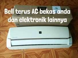 Dibeli tinggi AC bekas rumah/kantor satuan maupun borongan