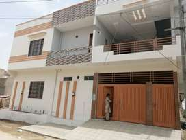 stylish new 240 yards double story house block-5, saadi town