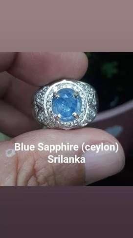 Natural Blue Sapphire (ceylon) Srilanka + Memo