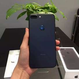 Iphone 7 plus 128gb black komplit murah