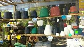 Jual pot plastik murah,pot hias plastik warna ukuran lengkap