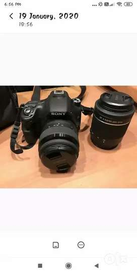 Sony a 58 with 18-55 lens