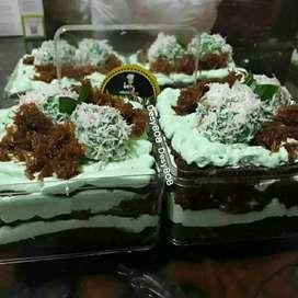 Cake pandan klepon mantap tetlaris
