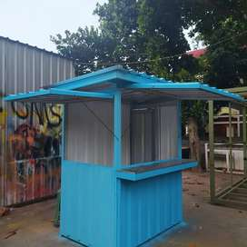Booth semi container