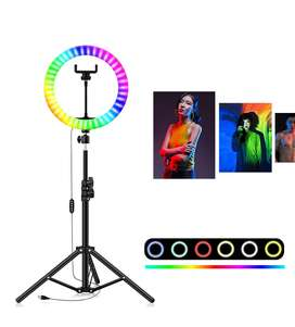 RGB 26CM LED Ring Light 26Colors with Remote Professional Ring Light