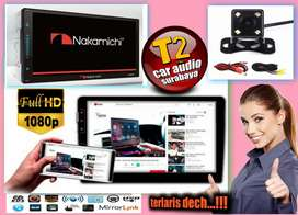 Special 2din NAKAMICHI android link led 7inc plus camera hd