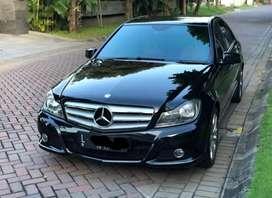 Mercy C200 Avantgarde Facelift Nik 2012,Hitam, plat L,pajak bulan 8