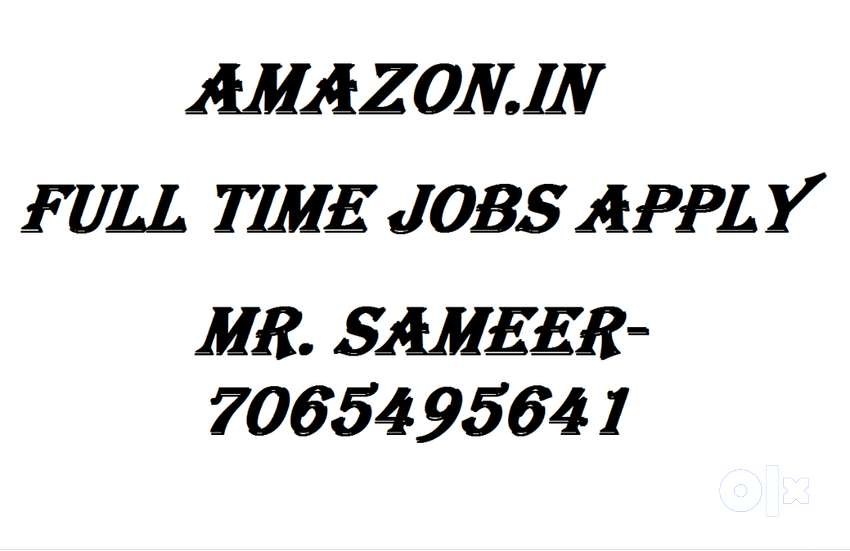 Ama#zon& Full time job apply in helper,store keeper,supervisor 0