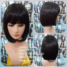 Wig rambut pendek