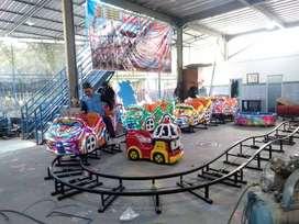 RAA Mainan kereta lantai mini coaster jual karet ban odong odong