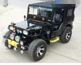 Modified willy black jeep
